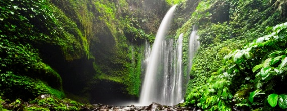 Natural Beauty of Sendang Gile Waterfall, Lombok