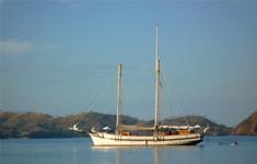 Sailing Boat to Rinca Island