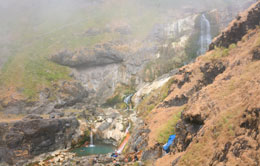 Hot Spring In The Mount Rinjani
