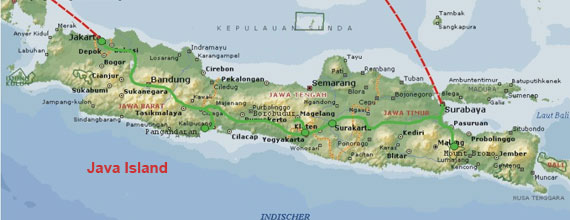 Map Of Island Of Java